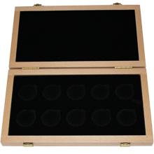 Dřevěná krabička světlá 10 x Au ČR Hrady ČR