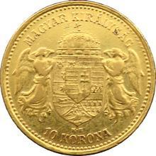 Zlatá mince Desetikoruna Františka Josefa I. Uherská ražba 1905