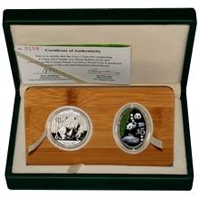 Giant Panda sada stříbrných mincí 2012 Proof