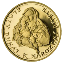 Zlatý dukát k narození dítěte 2009 Proof