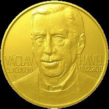Zlatá investiční medaile 1 Kg Václav Havel 2012 Standard