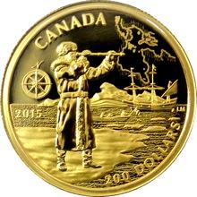 Zlatá minca Henry Hudson 2015 Proof