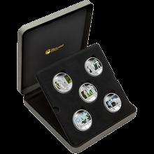 Hrdinové a darebáci Exkluzivní sada stříbrných mincí 2011 Proof