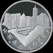 Hrad Loket stříbrná medaile 2011 1 Oz Proof
