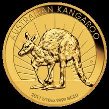 1/10 Oz Kangaroo Zlatá investiční mince 2011