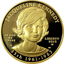 Zlatá mince Jacqueline Kennedy First Spouse 2015 Proof