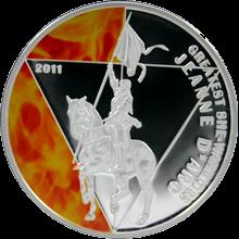 Stříbrná mince Johanka z Arku 2011 Proof Togo