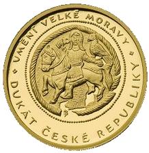 Jednodukát ČR 2010 Umění velké Moravy Proof