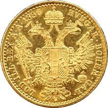 Zlatá mince Dukát Františka Josefa I. 1886