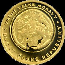 Jednodukát ČR umění Velké Moravy 2008 Proof