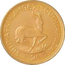 Zlatá mince 2 Rand Jan van Riebeeck 1967