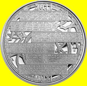 Kalendář roku 2011 stříbrná medaile 2010 42g PROOF