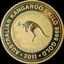 1 Kg Kangaroo Zlatá investiční mince 2011