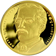 Zlatá půluncová medaile Karel Jaromír Erben 2011 Proof