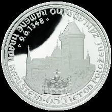 Karlštejn Stříbrná medaile 2003 Proof