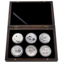 Kompletní sada 6 stříbrných investičních mincí 1 Oz Canadian Wildlife 2011 - 2013