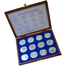Stříbrné medaile Znamení zvěrokruhu Kompletní sada