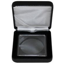 Univerzálna čierná koženková krabička pre jednu mincu do váhy 1 unca
