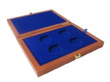 Drevenná krabička 4 x Ag ČR 36 mm