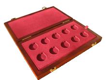Drevenná krabička 10 x Au ČR Technické dedičstvo