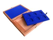 Drevenná krabička 6 x Ag ČR 36 mm