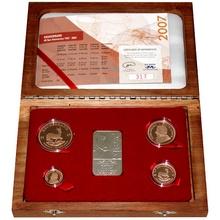 Krugerrand 2007 Exkluzivní sada zlatých mincí 40. výročí Proof