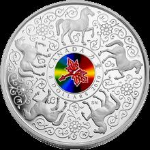 Stříbrná mince Kůň - Maple of Strenght 2010 Proof