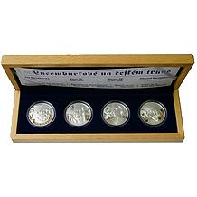 Sada stříbrných medailí Lucemburkové na českém trůně 2006 Proof