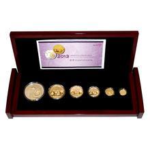 Lunární sada zlatých mincí Čínská Panda 2013 Proof