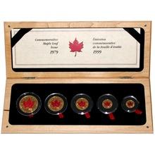 Maple Leaf 20. výročí Sada zlatých mincí 1999 Standard