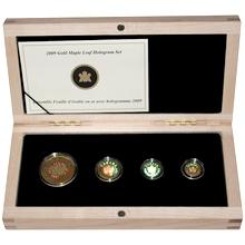 Maple Leaf 30. výročí Sada zlatých mincí 2009 Hologram Proof