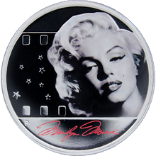 Stříbrná mince Marilyn Monroe 1 Oz 2012 Proof
