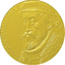 Zlatá medaile 40 dukát Maximilián II. 2009 Standard