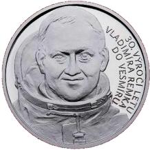Stříbrná medaile 30. výročí letu Vladimíra Remka do vesmíru 2008 Proof