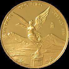 Zlatá investičná minca Mexico Libertad 1/4 Oz