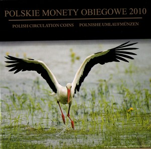 Sada oběžných mincí Polsko 2010