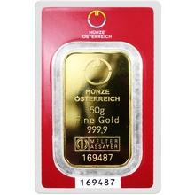 50g Münze Österreich Investičná zlatá tehlička
