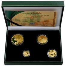 Natura - Karakal Prestižní sada zlatých mincí 2004 Proof