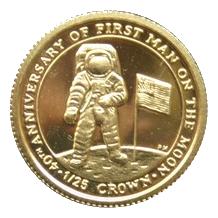 Nejmenší zlatá mince světa 40. výročí přistání člověka na Měsíci