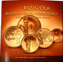 Oběžné mince Slovenské republiky r.2008