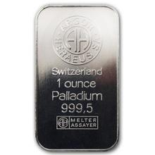 31,1g Argor Heraeus SA Švýcarsko 1 Oz Investiční palladium slitek