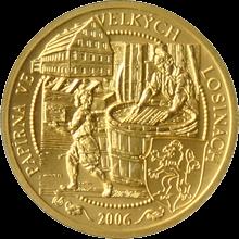 Zlatá minca 2500 Kč Papierne Velké Losiny 2006 Štandard