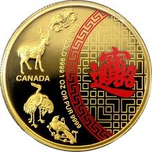 Zlatá minca Peť požehnaní 1 Oz 2014 Proof