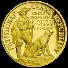 Pětidukát ČR 2012 Pověst O Chodech Proof