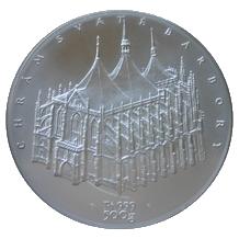 Platinová investiční medaile Chrám sv. Barbory 2010 Standard