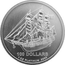 Platinová investiční mince Bounty Cook Islands 1 Oz
