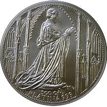 Platinová investiční medaile Chrám sv. Víta 2009 Standard