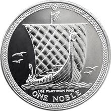 Platinová investiční mince Noble Isle of Man 1 Oz