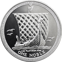 Platinová investičná minca Noble Isle of Man 1 Oz