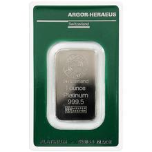 31,1g Argor Heraeus SA Švýcarsko 1 Oz Investiční platinový slitek